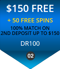 Diamond Reels Second Deposit Bonus - $150 + 50 Free Spins - Use Code DR100