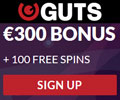 Guts Online Casino Welcome Package