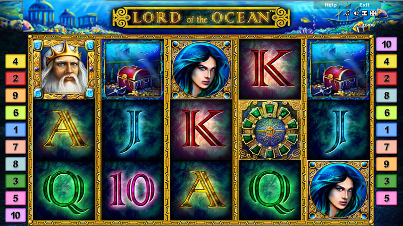 Lord Of The Ocean Main Play Screen